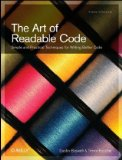 Art of Readable Code Simple and Practical Techniques for Writing Better Code 1st 2011 9780596802295 Front Cover