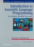 Introduction to Assembly Language Programming For Pentium and RISC Processors 2nd 2004 Revised  9780387206363 Front Cover