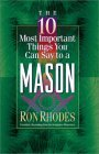10 Most Important Things You Can Say to a Mason 2002 9780736905367 Front Cover