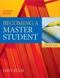 Becoming a Master Student 11th 2006 9780618595389 Front Cover
