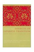 Sources of Japanese Tradition From Earliest Times To 1600 cover art