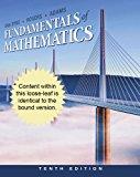 Fundamentals of Mathematics 10th 2011 9781111578398 Front Cover