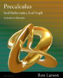 Precalculus Real Mathematics, Real People 6th 2011 Alternate  9781111428433 Front Cover