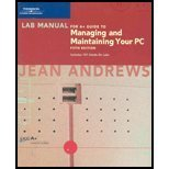 Managing and Maintaining Your PC 5th 2004 Lab Manual  9780619213442 Front Cover