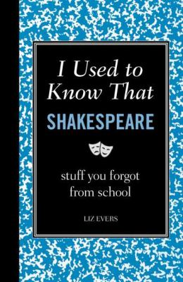 I Used to Know That Shakespeare Stuff You Forgot from School 2011 9781606522462 Front Cover