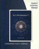 Finite Mathematics 5th 2010 9780538734486 Front Cover