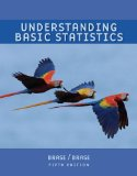 Understanding Basic Statistics, Brief (with Formula Card) 5th 2008 Brief Edition  9780547132495 Front Cover
