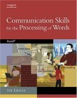 Communication Skills for the Processing of Words 5th 2004 9780538439541 Front Cover