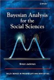 Bayesian Analysis for the Social Sciences 1st 2009 9780470011546 Front Cover