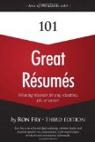 101 Great Resumes 3rd 2009 9781598638554 Front Cover