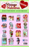 15 Vintage Valentines: Funny Valentines 15 Die-Cut Cards in Bag with Decorated Envelopes 2012 9781595834560 Front Cover