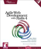 Agile Web Development with Rails 4 1st 2013 9781937785567 Front Cover