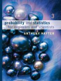 Probability and Statistics for Engineers and Scientists 3rd 2006 9780495107576 Front Cover
