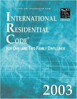 International Residential Code 2003 2003 9781892395580 Front Cover