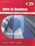 Intro to Business 7th 2008 Revised  9780538445610 Front Cover