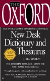 Oxford New Desk Dictionary and Thesaurus Third Edition 3rd 2009 9780425228623 Front Cover