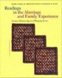 Readings in the Marriage and Family Experience Intimate Relationships in a Changing Society 3rd 1997 Revised 9780534537630 Front Cover