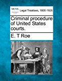 Criminal procedure of United States Courts 2010 9781240151639 Front Cover