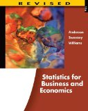 Statistics for Business and Economics 11th 2011 Revised 9780538481649 Front Cover