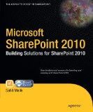 Microsoft SharePoint 2010 Building Solutions for SharePoint 2010 2010 9781430228653 Front Cover