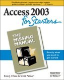 Access 2003 for Starters 1st 2005 9780596006655 Front Cover