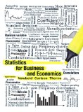Statistics for Business and Economics 8th 2012 Revised  9780132745659 Front Cover