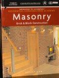 Masonry Brick and Block Construction 2007 9781428323667 Front Cover