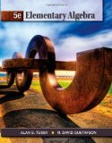 Elementary Algebra 5th 2012 9781111567668 Front Cover