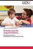 Texto Escrito Argumentativo 2012 9783848475674 Front Cover