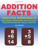 Addition Facts Practice Worksheets Arithmetic Workbook with Answers Reproducible Timed Math Drills: Adding the Numbers 0-20 2011 9781468137675 Front Cover