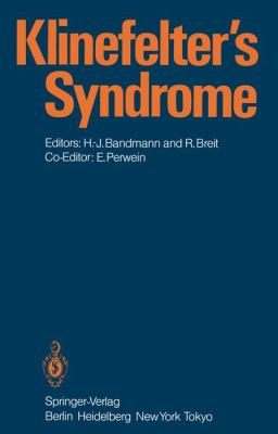 Klinefelter's Syndrome 1984 9783540132677 Front Cover