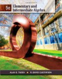 Elementary and Intermediate Algebra 5th 2012 9781111567682 Front Cover