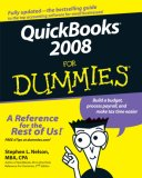 QuickBooks 2008 for Dummies 15th 2007 9780470184707 Front Cover