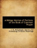Nishga Version of Portions of the Book of Common Prayer 2010 9781140322719 Front Cover