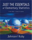 Just the Essentials of Elementary Statistics 3rd 2002 9780534384722 Front Cover