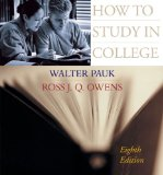 How to Study in College 8th 2004 9780618379729 Front Cover