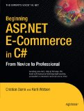 Beginning ASP.NET E-Commerce in C# 1st 2009 9781430210740 Front Cover