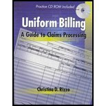 Uniform Billing A Guide to Claims Processing (Book Only) 1999 9781111320751 Front Cover
