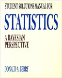 Statistics A Bayesian Perspective 1st 1995 Student Manual, Study Guide, etc.  9780534234768 Front Cover