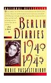 Berlin Diaries, 1940-1945 1st 1988 Reprint 9780394757773 Front Cover