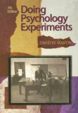 Doing Psychology Experiments 7th 2007 Revised 9780495115779 Front Cover