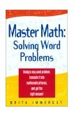 Master Math Solving Word Problems 2003 9781564146786 Front Cover