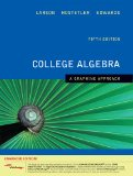 College Algebra A Graphing Approach, Enhanced Edition (with Enhanced WebAssign 1-Semester Printed Access Card) 5th 2009 9781439043806 Front Cover
