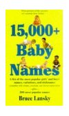 15,000 Baby Names 1997 9780881662825 Front Cover