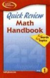 Quick Review Math Handbook: Hot Words, Hot Topics, Book 1, Student Edition 2003 9780078600838 Front Cover