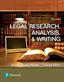 Legal Research, Analysis, and Writing 6th 2017 9780134559841 Front Cover