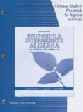 Beginning and Intermediate Algebra An Integrated Approach 6th 2010 Workbook  9780538731843 Front Cover