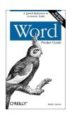 Word Pocket Guide 2nd 2004 9780596006846 Front Cover