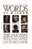 Words of Wisdom More Good Advice 1990 9780671695873 Front Cover