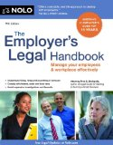 Employer's Legal Handbook Manage Your Employees and Workplace Effectively 11th 2013 9781413318883 Front Cover
